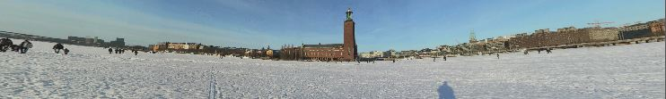 360 Panoramic view outside Stockholm City Hall
